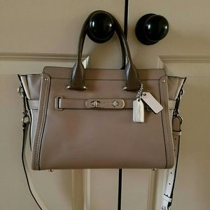 COACH Swagger Colorblock Leather Satchel
